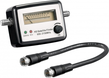 Satfinder Digital Analog HD Satelitenfinder Sat + Kabel NEU von Goobay